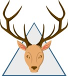 Hipster Vector Graphics - Stag trophy