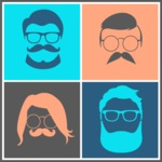 Hipster Vector Graphics - Artwork in frame