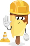 Sweet Ice Cream Cartoon Vector Character AKA Creamsy - As a Construction Worker