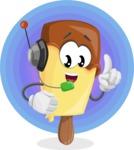 Sweet Ice Cream Cartoon Vector Character AKA Creamsy - Colorful Vivid Illustration