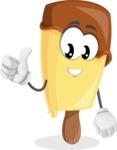 Sweet Ice Cream Cartoon Vector Character AKA Creamsy - Giving Thumbs Up