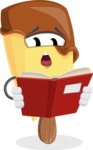 Sweet Ice Cream Cartoon Vector Character AKA Creamsy - Reading a Book