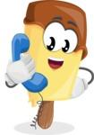Sweet Ice Cream Cartoon Vector Character AKA Creamsy - Talking on Phone