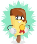 Sweet Ice Cream Cartoon Vector Character AKA Creamsy - The Best Ice Cream Award Concept Illustration