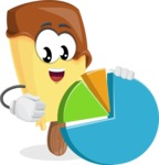 Sweet Ice Cream Cartoon Vector Character AKA Creamsy - With a Business Pie Chart