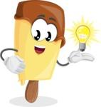 Sweet Ice Cream Cartoon Vector Character AKA Creamsy - with an Idea