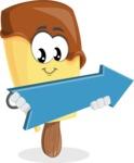 Sweet Ice Cream Cartoon Vector Character AKA Creamsy - with Forward Arrow