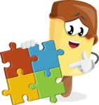 Sweet Ice Cream Cartoon Vector Character AKA Creamsy - with Puzzle