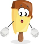 Sweet Ice Cream Cartoon Vector Character AKA Creamsy - With Stunned Face