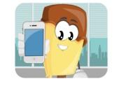Sweet Ice Cream Cartoon Vector Character AKA Creamsy - Working in Office Illustration Concept