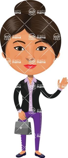 Indian People Vector Cartoon Graphics Maker - Indian Businesswoman