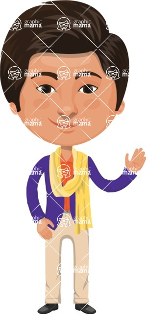 Indian People Vector Cartoon Graphics Maker - Young Modern Indian