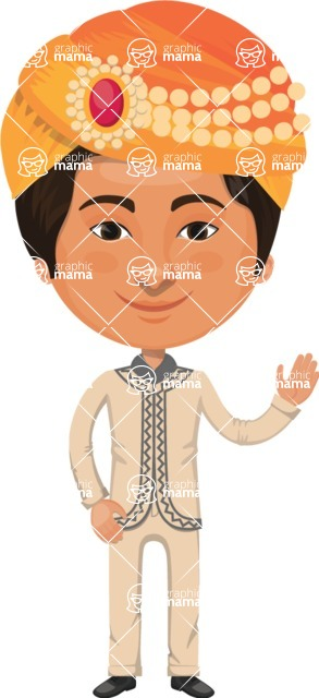 Indian People Vector Cartoon Graphics Maker - Indian with Turban