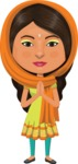 Indian People Vector Cartoon Graphics Maker - Indian with Orange Scarf