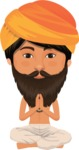 Indian People Vector Cartoon Graphics Maker - Indian Guru