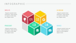 Ultimate Infographic Template Collection - Mega Bundle Part 2 - Isometric Cubes Infographic Template