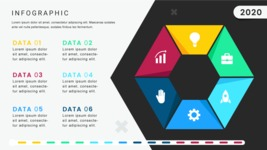 Ultimate Infographic Template Collection - Mega Bundle Part 2 - 6 Options Hexagon Infographic Template