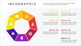 Ultimate Infographic Template Collection - Mega Bundle Part 2 - 7 Options Heptagon Infographic Template