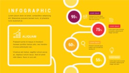 Ultimate Infographic Template Collection - Mega Bundle Part 2 - Yellow Infographic Template with Percents