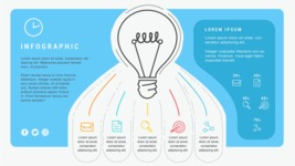 Ultimate Infographic Template Collection - Mega Bundle Part 2 - Light Bulb Infographic Template