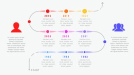 Ultimate Infographic Template Collection - Mega Bundle Part 2 - 9 Data Timeline Infographic Template