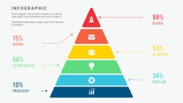 Ultimate Infographic Template Collection - Mega Bundle Part 2 - 6 Steps Minimalist Pyramid Infographic Template