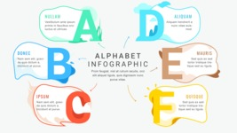 Ultimate Infographic Template Collection - Mega Bundle Part 2 - Letters Infographic Template - A B C D E F