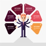Infographic Template Collection - Infographic Template with Business Character