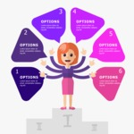 Infographic Template Collection - Infographic Template with Businesswoman