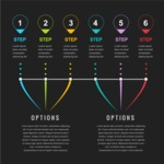Infographic Template Collection - Steps And Options Infographic Template