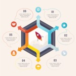 Infographic Template Collection - Modern Infographic Template Design with Speech Bubbles