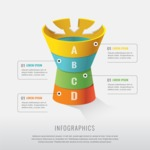 Infographic Template Collection - A B C D Vector Infographic Template in Realistic Style