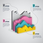 Infographic Template Collection - 3D Chart Infographic Vector Template