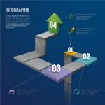 Infographic Template Collection - Infographic Template with 3D Steps and Depth