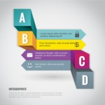 Infographic Template Collection - Modern Infographic Template with A B C D Options