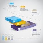 Infographic Template Collection - Business Infographic Template in 3D Style
