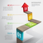 Infographic Template Collection - Modern Business Infographic Template Design with Steps to Success