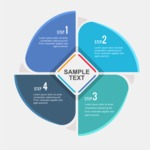 Infographic Template Collection - 4 Steps Infographic Template