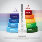 Infographic Template Collection - Colorful Business Infographic Template with 5 Stages