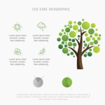 Infographic Template Collection - Eco Care Infographic Design Template With a Tree