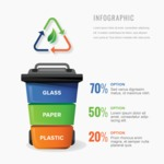 Infographic Template Collection - Recycling Infographic Template Design