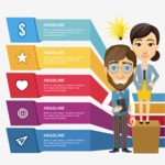 Infographic Template Collection - Infographic Template with Business Characters