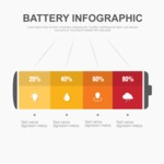 Infographic Template Collection - Battery Infographic Template Vector Graphic