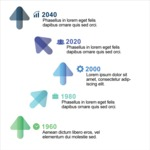 Infographic Template Collection - Vector Timeline Infographic Template with Arrows