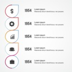 Infographic Template Collection - Growth Over Years Vector Infographic Template Design