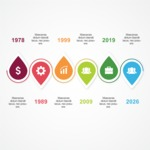 Infographic Template Collection - History of a Business Company Infographic Template Design