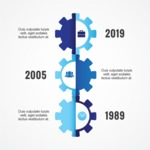Infographic Template Collection - Vector Cogwheel Infographic Template Design