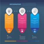 Infographic Template Collection - 3 Colorful Labels Infographic Template