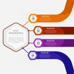Infographic Template Collection - Infographic Template with 4 Steps