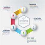 Infographic Template Collection - Vector Infographic Template With Realistic Design